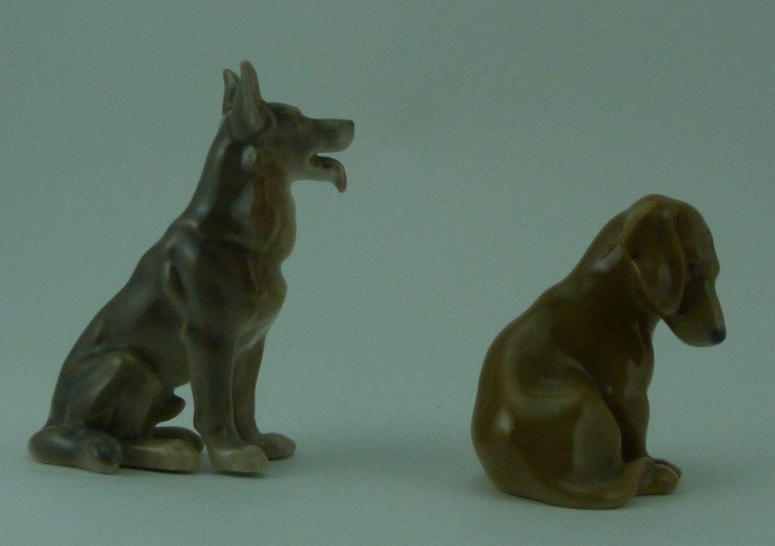 2pc ROYAL COPENHAGEN PORCELAIN DOG FIGURINES - 4