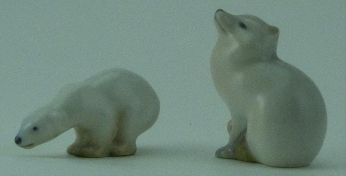 ROYAL COPENHAGEN PORCELAIN POLAR BEAR & FOX - 2
