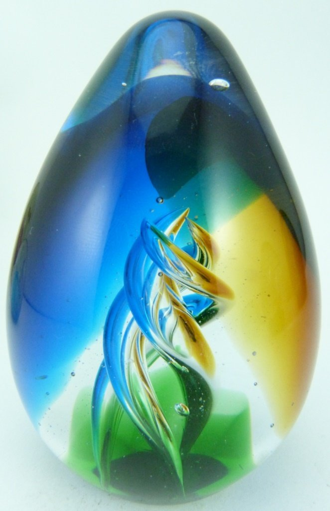 6pc ART GLASS ITALIAN PAPERWEIGHTS - 7