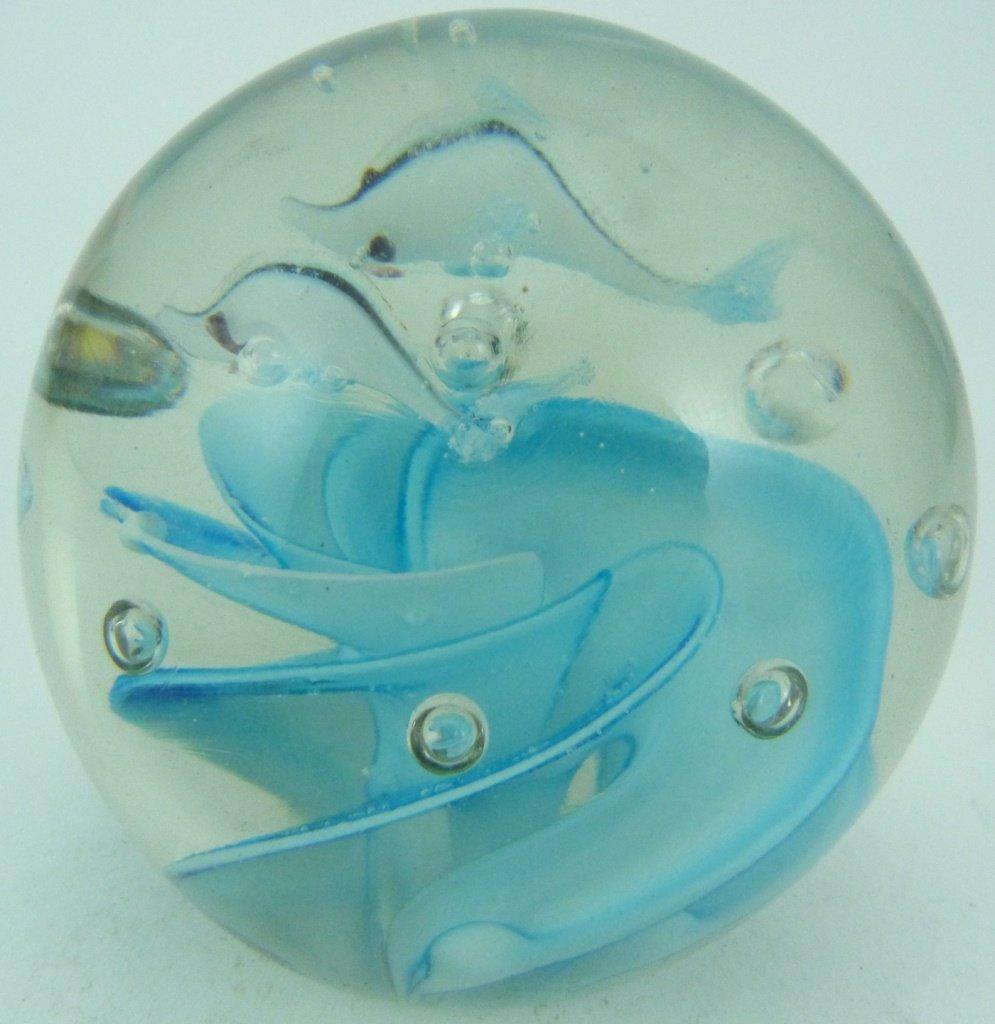 6pc ART GLASS ITALIAN PAPERWEIGHTS - 8