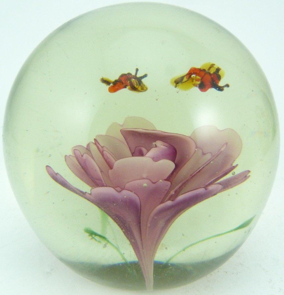 6pc ART GLASS ITALIAN PAPERWEIGHTS - 9
