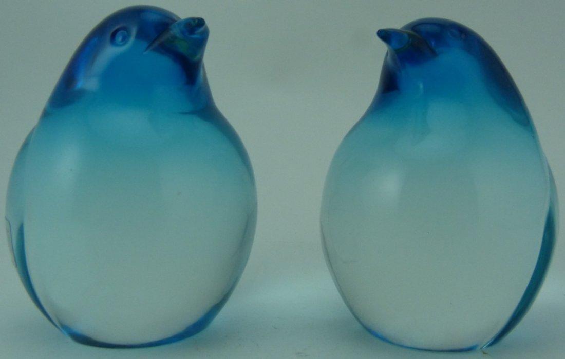 OGGETTI ITALIAN ART GLASS PENGUIN PAPERWEIGHTS