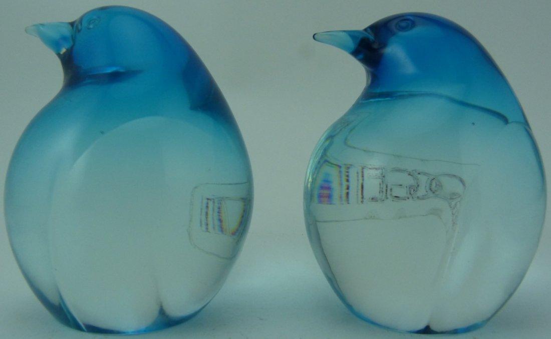 OGGETTI ITALIAN ART GLASS PENGUIN PAPERWEIGHTS - 3