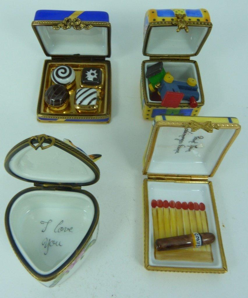 9pc LIMOGES FRANCE PORCELAIN TRINKET BOXES - 3