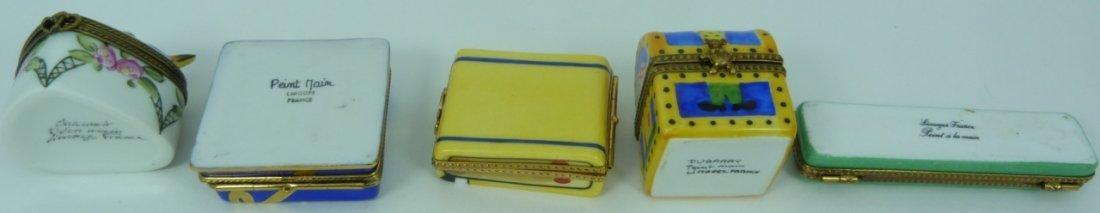 9pc LIMOGES FRANCE PORCELAIN TRINKET BOXES - 4