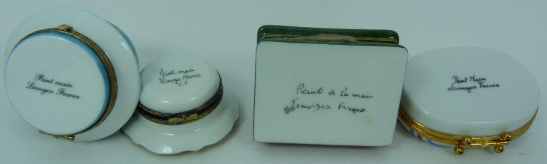 9pc LIMOGES FRANCE PORCELAIN TRINKET BOXES - 5