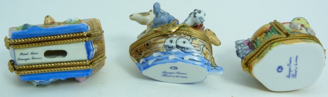 6pc LIMOGES FRANCE PORCELAIN TRINKET BOXES - 7