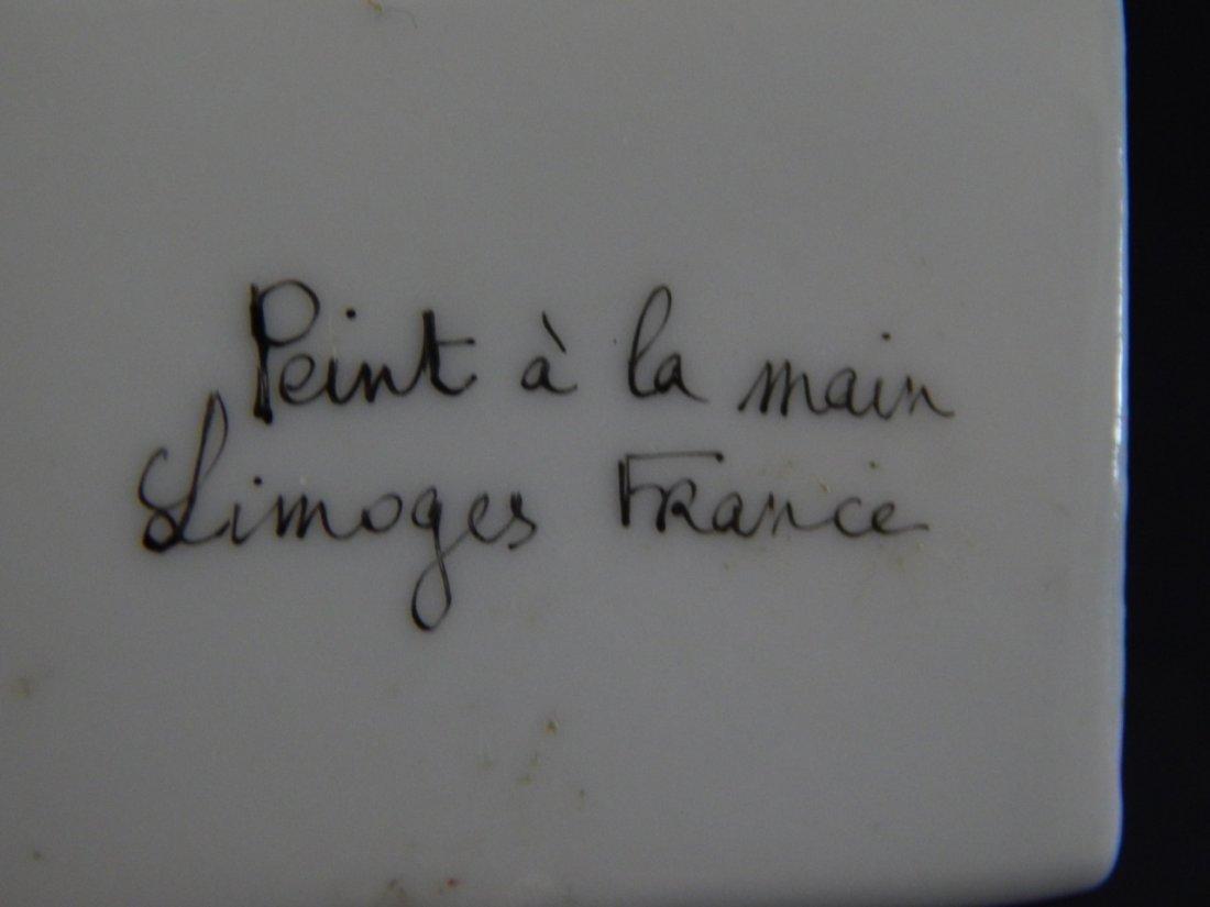 8pc LIMOGES FRANCE PORCELAIN TRINKET BOXES - 4