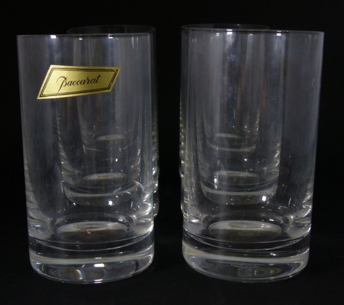 6pc BACCARAT CRYSTAL MONTAIGNE OPTIC TUMBLERS