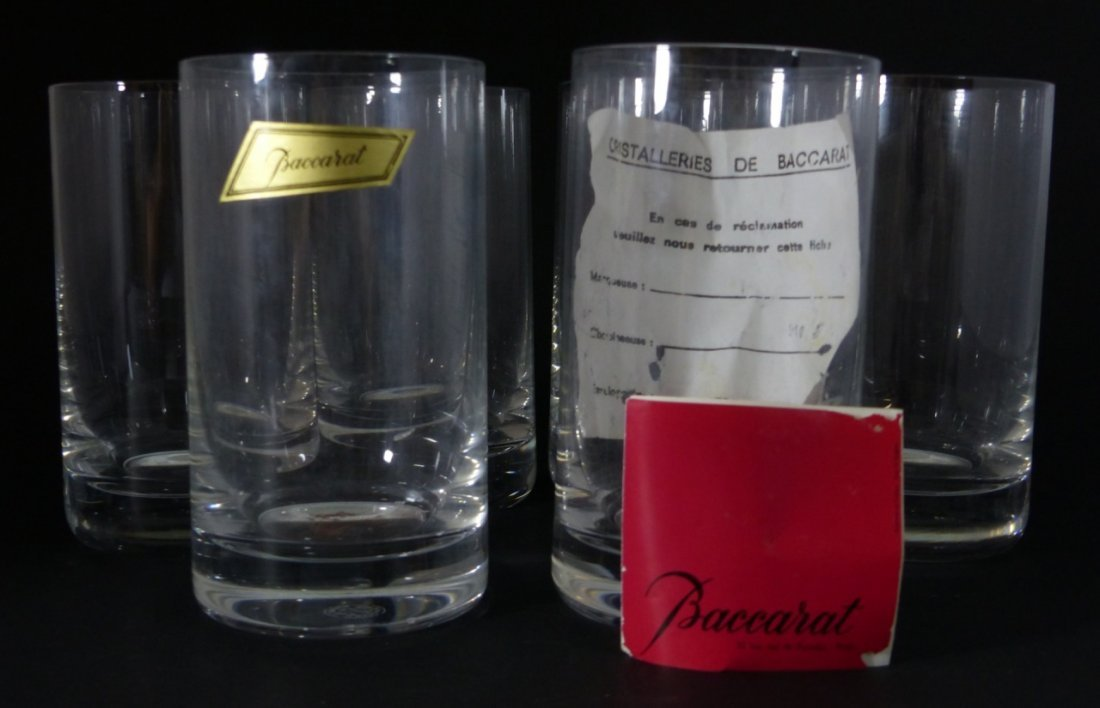 6pc BACCARAT CRYSTAL MONTAIGNE OPTIC TUMBLERS - 2