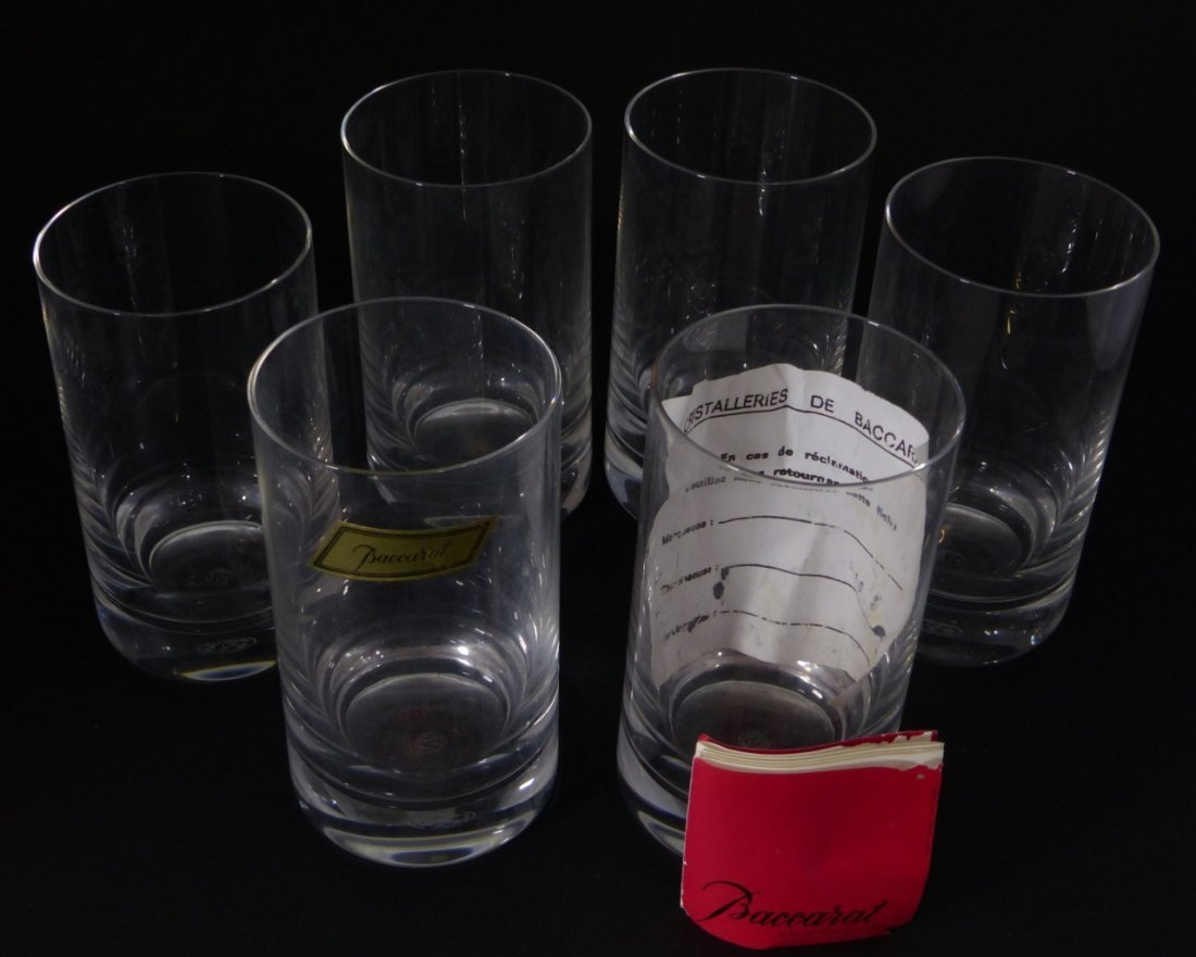 6pc BACCARAT CRYSTAL MONTAIGNE OPTIC TUMBLERS - 5