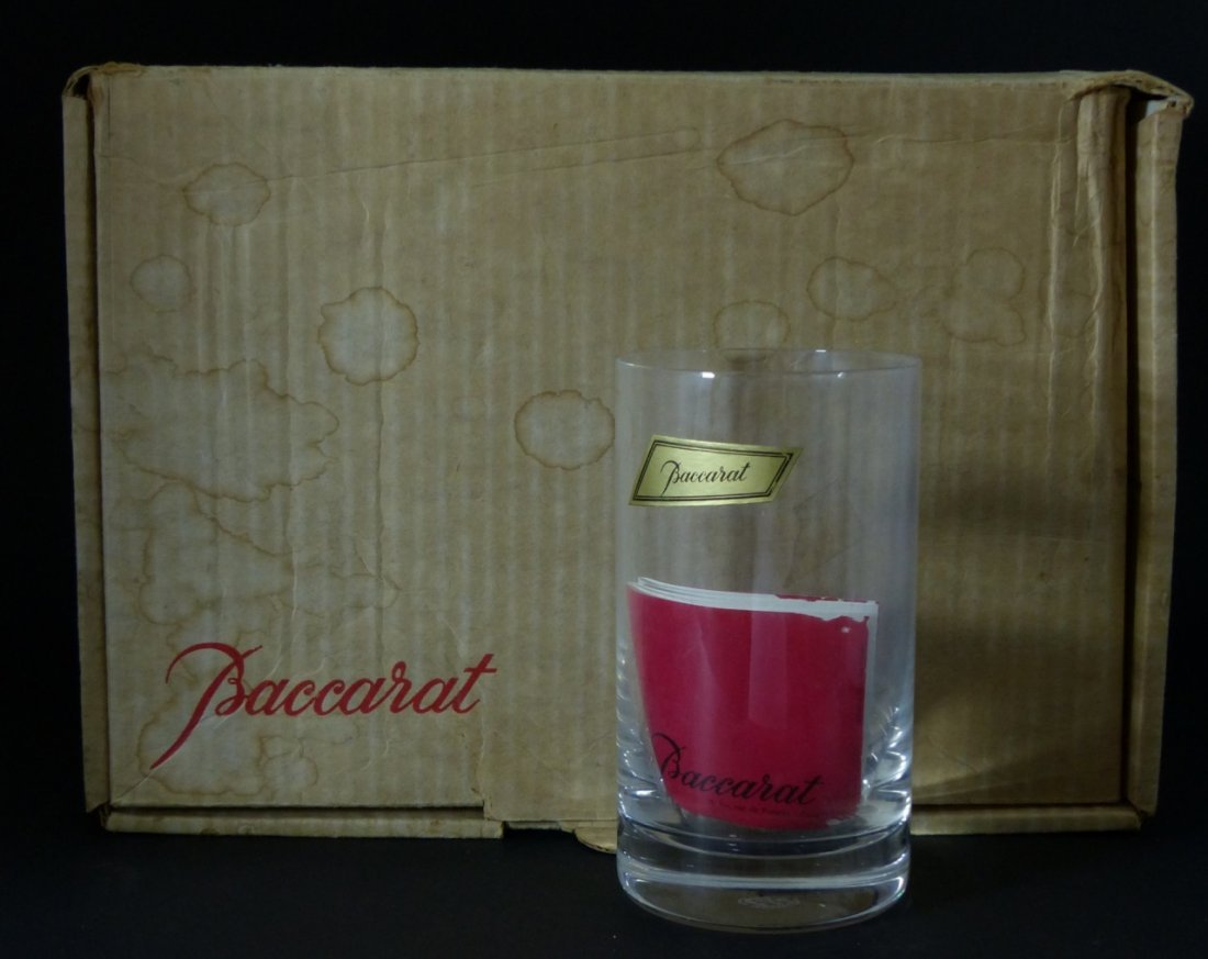 6pc BACCARAT CRYSTAL MONTAIGNE OPTIC TUMBLERS - 6