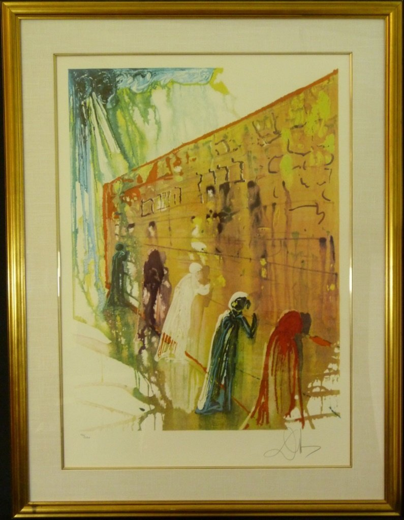 SALVADOR DALI THE WAILING WALL LITHOGRAPH 156/250