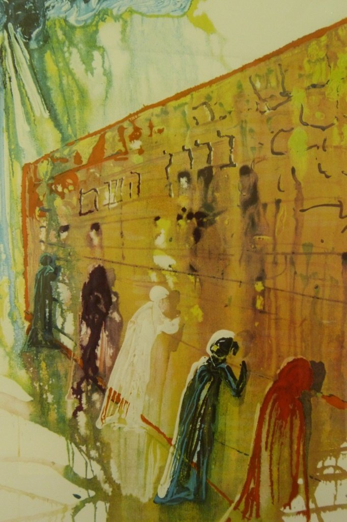 SALVADOR DALI THE WAILING WALL LITHOGRAPH 156/250 - 2