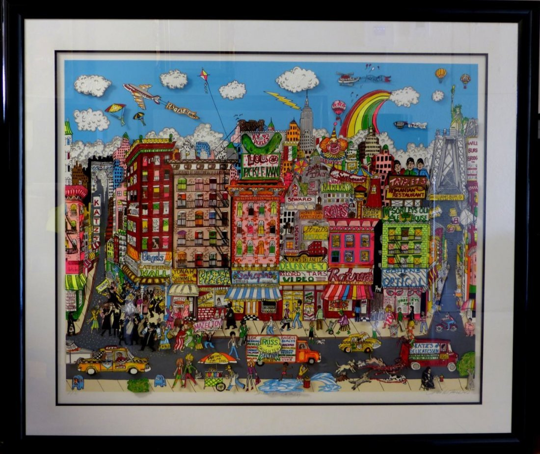 CHARLES FAZZINO DANCING ON DELANCEY 3D SERIGRAPH