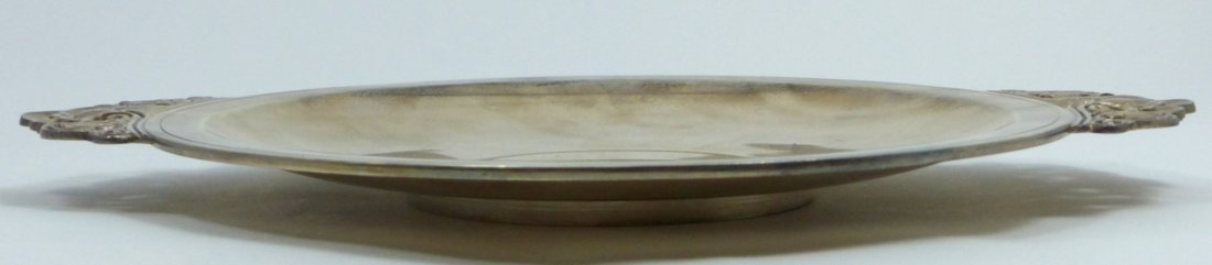 TIFFANY & CO STERLING SILVER ROUND HANDLED TRAY - 3