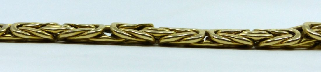 14KT YELLOW GOLD BYZANTINE BRACELET - 4