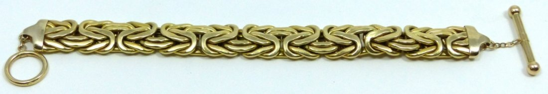 14KT YELLOW GOLD BYZANTINE BRACELET - 6