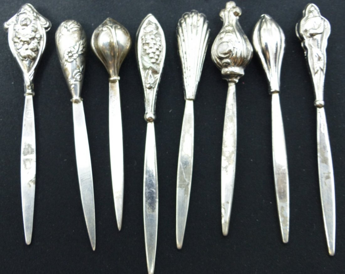 15pc STERLING SILVER SERVING PICKS - 2