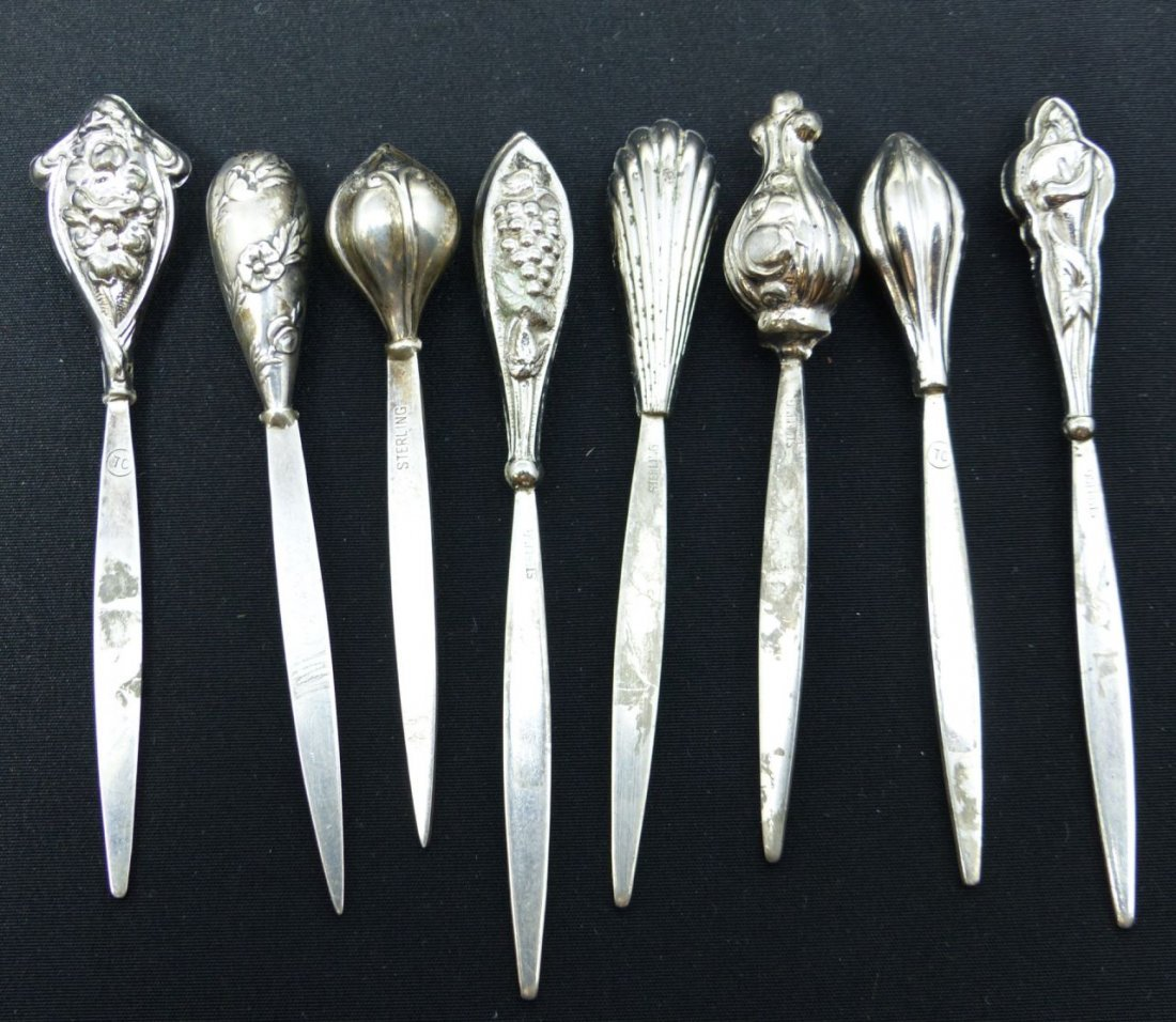 15pc STERLING SILVER SERVING PICKS - 8