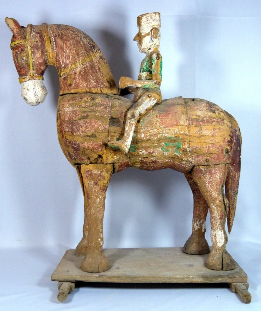 LARGE CHINESE POLYCHROME CARVED TANG HORSE - 5