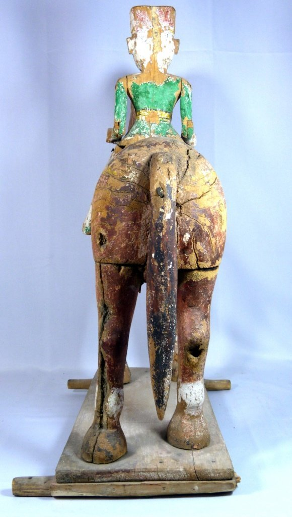 LARGE CHINESE POLYCHROME CARVED TANG HORSE - 6