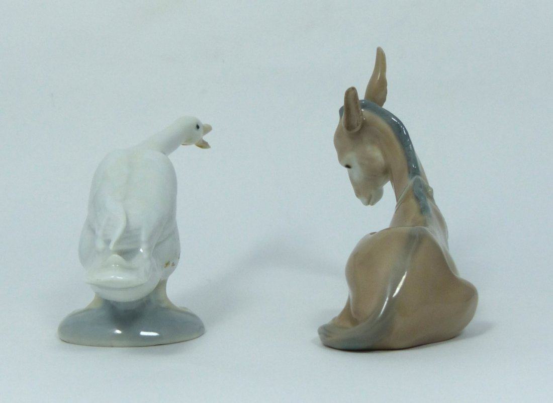 2pc LLADRO PORCELAIN ANIMAL FIGURINES - 4