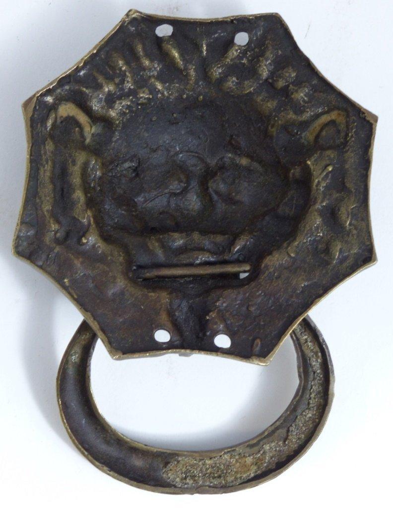 CHINESE BRONZE FOO LION DOOR KNOCKER - 4