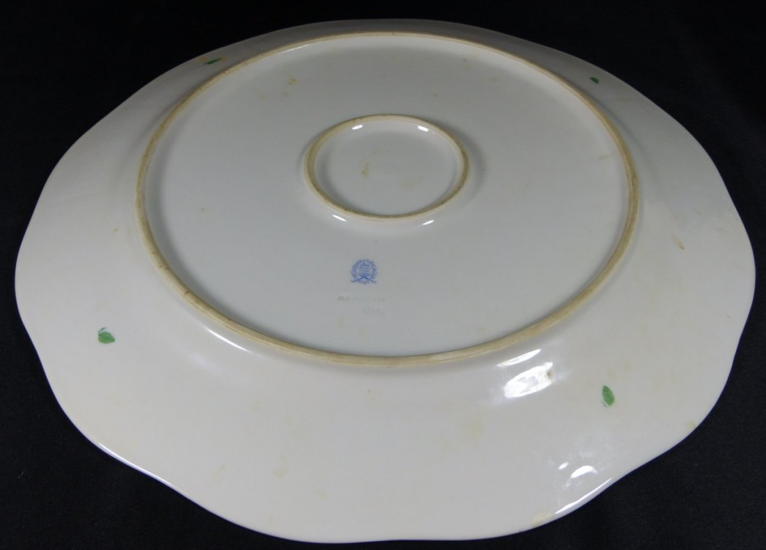 HEREND CHINESE BOUQUET GREEN PORCELAIN PLATTER - 2