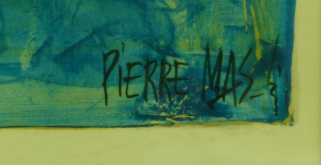 PIERRE MAS ORIGINAL SIGNED GOUACHE - 3