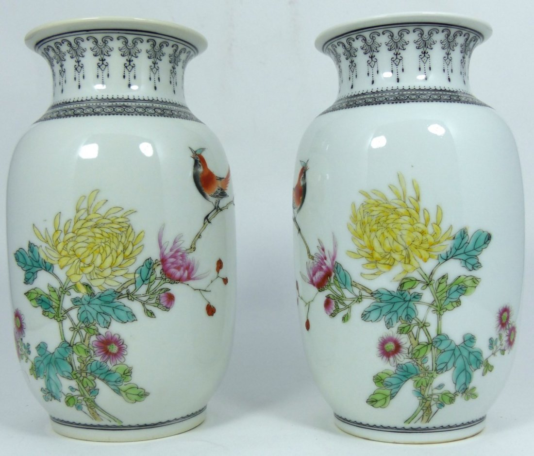 PAIR CHINESE PORCELAIN REPUBLIC PERIOD VASES