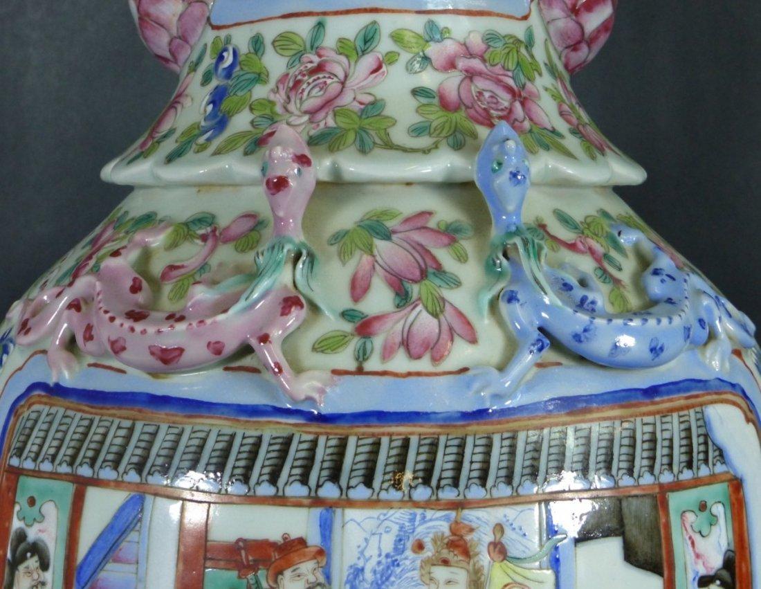 LARGE CHINESE FAMILLE ROSE PORCELAIN VASE - 5