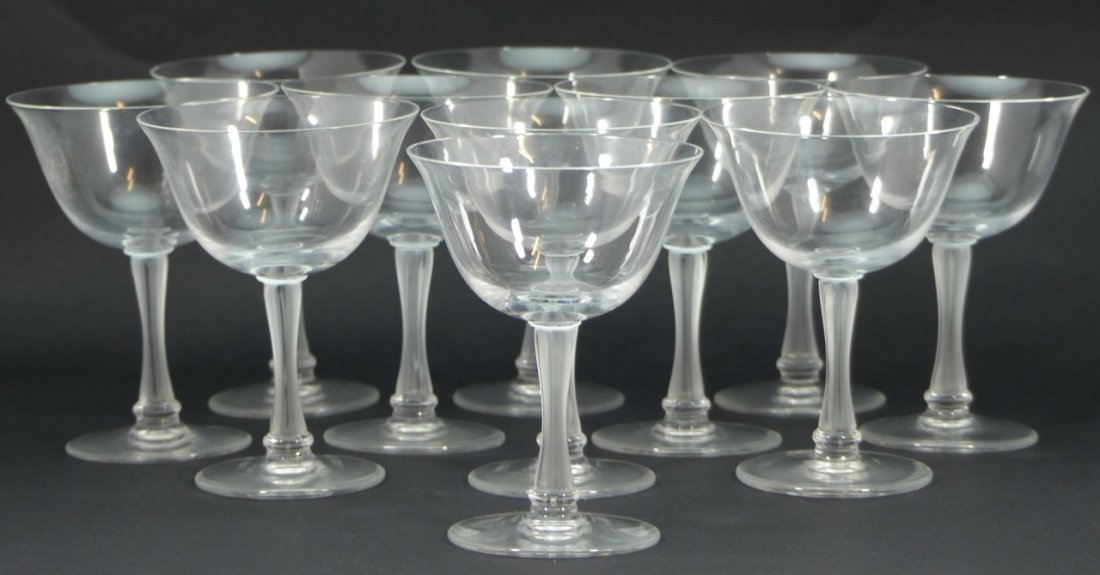 11pc LALIQUE FRANCE CRYSTAL SHERBET GLASSES
