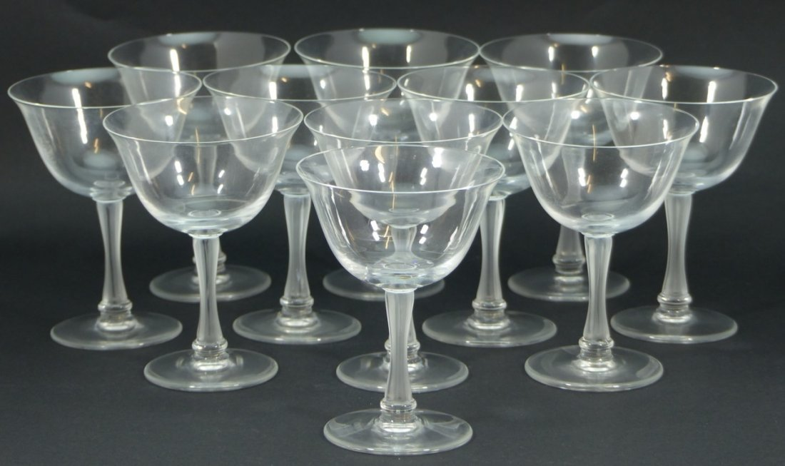 11pc LALIQUE FRANCE CRYSTAL SHERBET GLASSES - 4