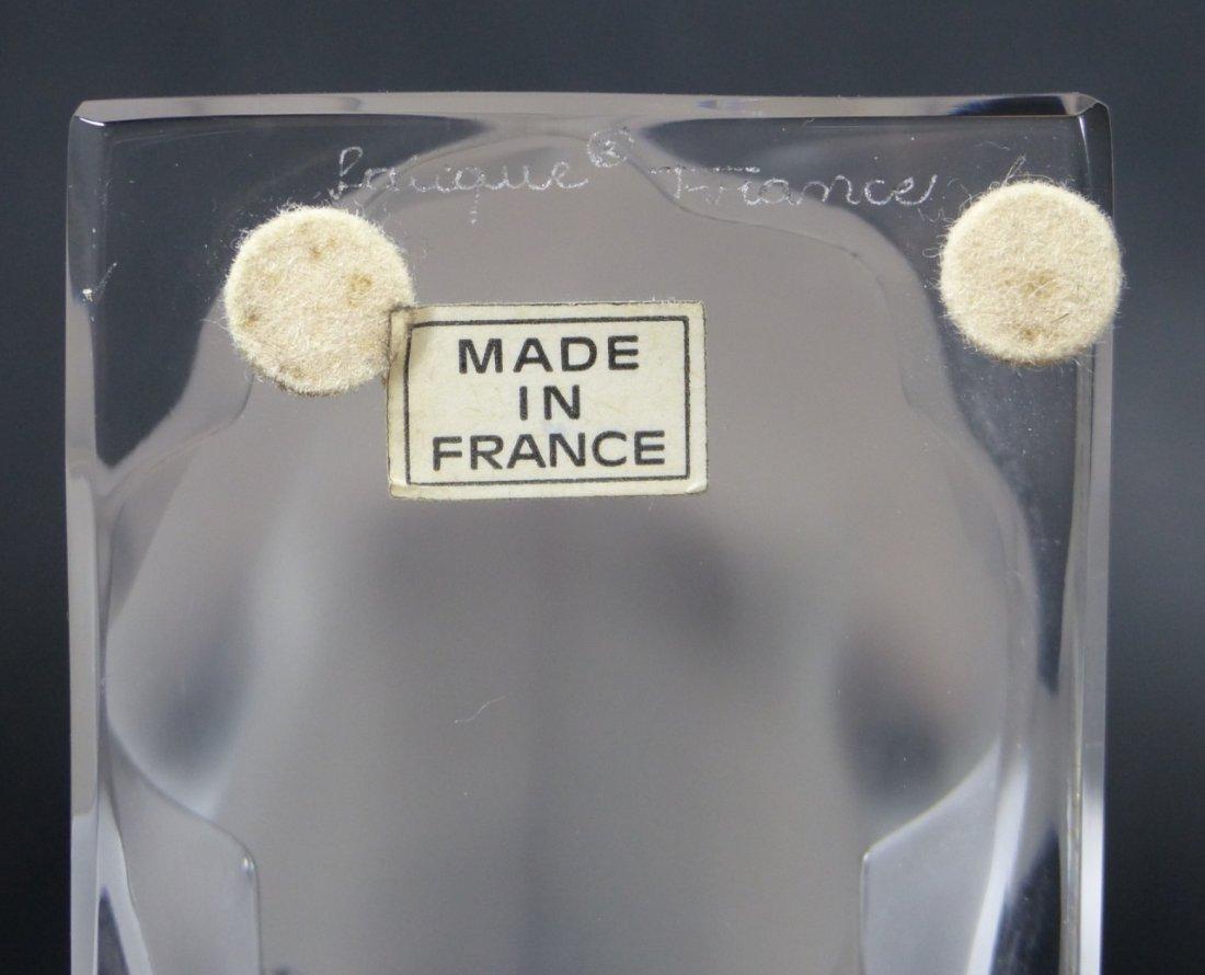 LALIQUE FRANCE CRYSTAL CERF DEER FIGURE - 10