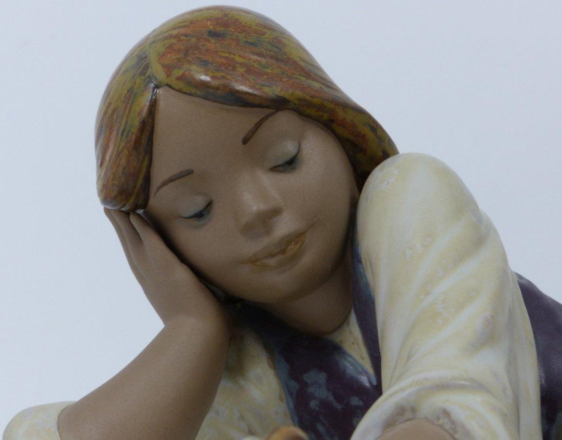 RETIRED LLADRO PORCELAIN GIRL w SNAIL FIGURINE - 10