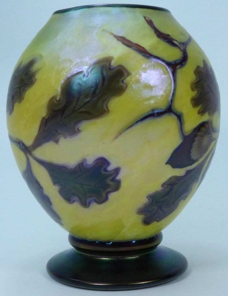 ORIENT & FLUME ART GLASS VASE - 10