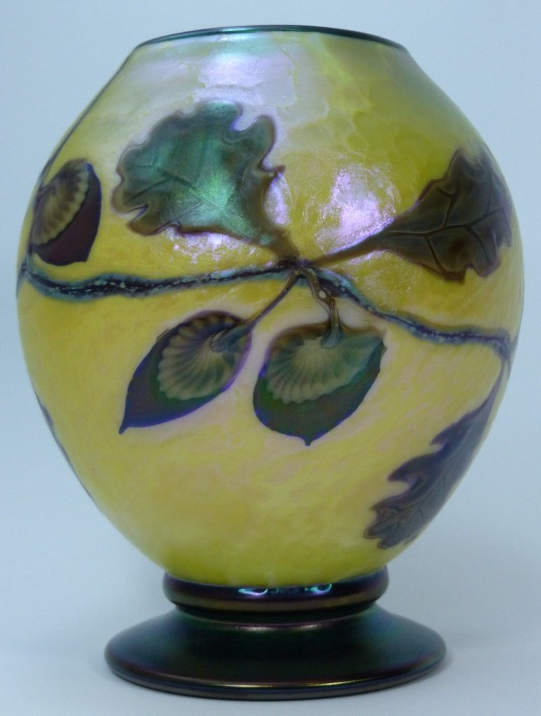 ORIENT & FLUME ART GLASS VASE - 2