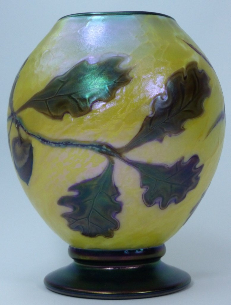 ORIENT & FLUME ART GLASS VASE - 3
