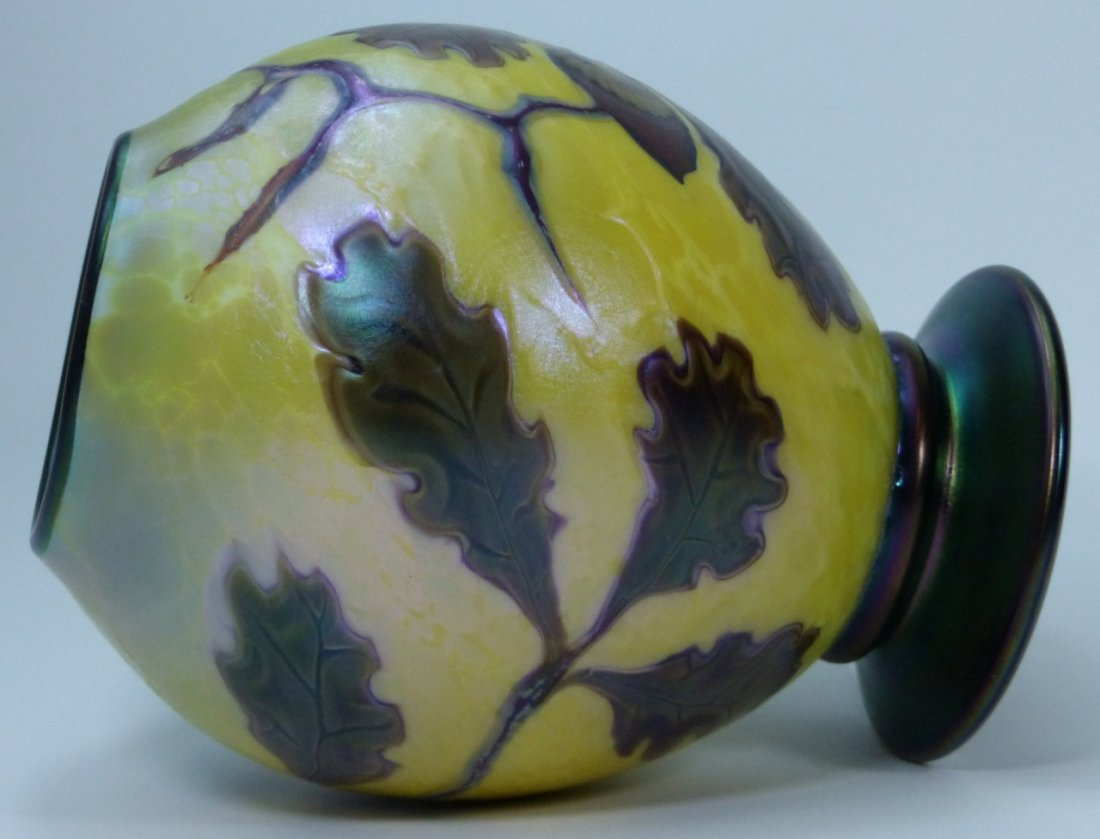 ORIENT & FLUME ART GLASS VASE - 5