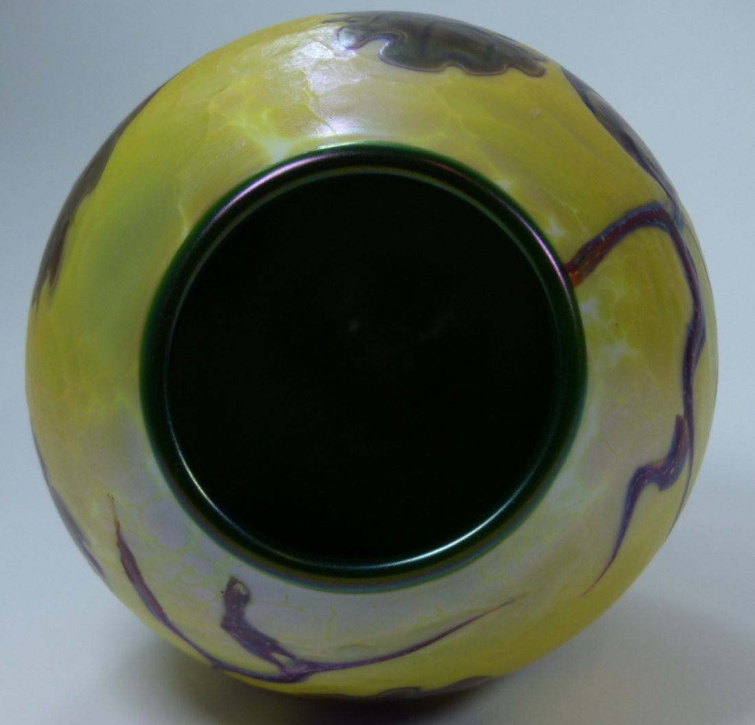 ORIENT & FLUME ART GLASS VASE - 8