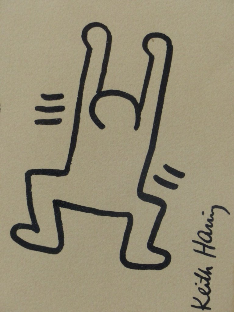 KEITH HARING SIGNED INK/MARKER ON PAPER - 3