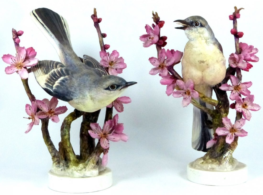 PAIR ROYAL WORCESTER LIMITED EDITION BIRD FIGURES