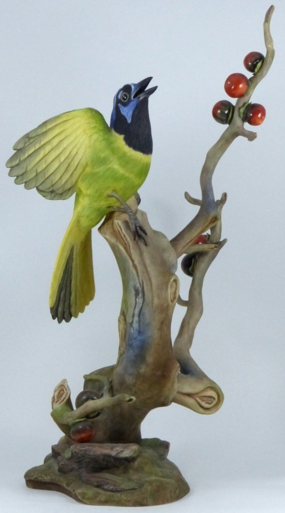 """BOEHM LIMITED EDITION """"GREEN JAYES"""" FIGURINE"""