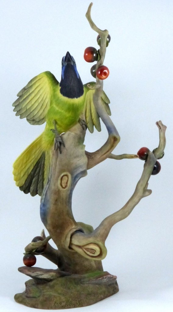 """BOEHM LIMITED EDITION """"GREEN JAYES"""" FIGURINE - 3"""