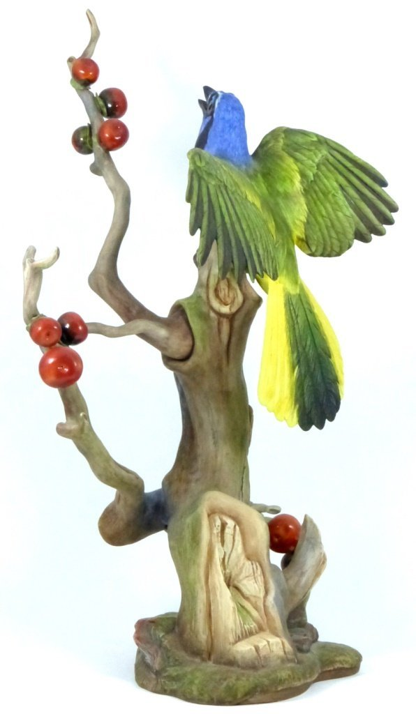 """BOEHM LIMITED EDITION """"GREEN JAYES"""" FIGURINE - 5"""