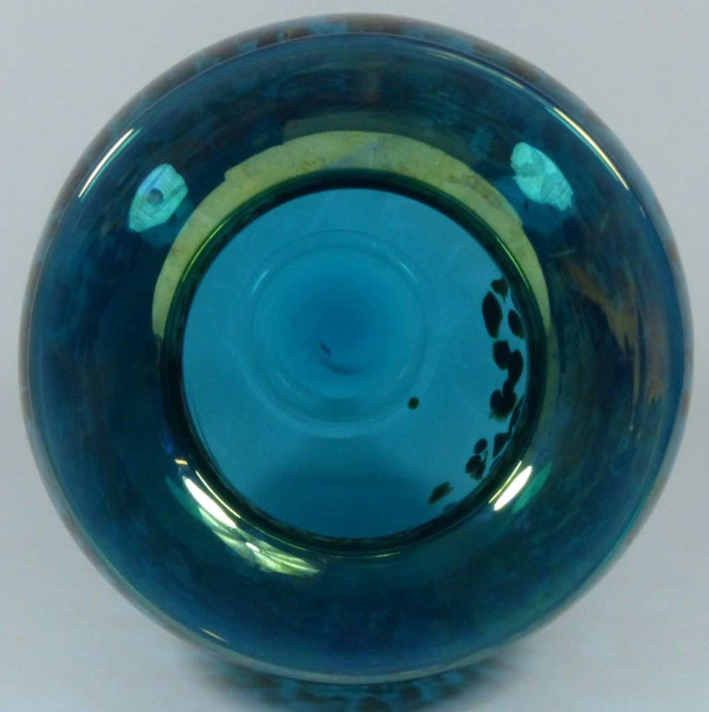 LARGE MICHAEL NOUROT ART GLASS VASE SIGNED - 7