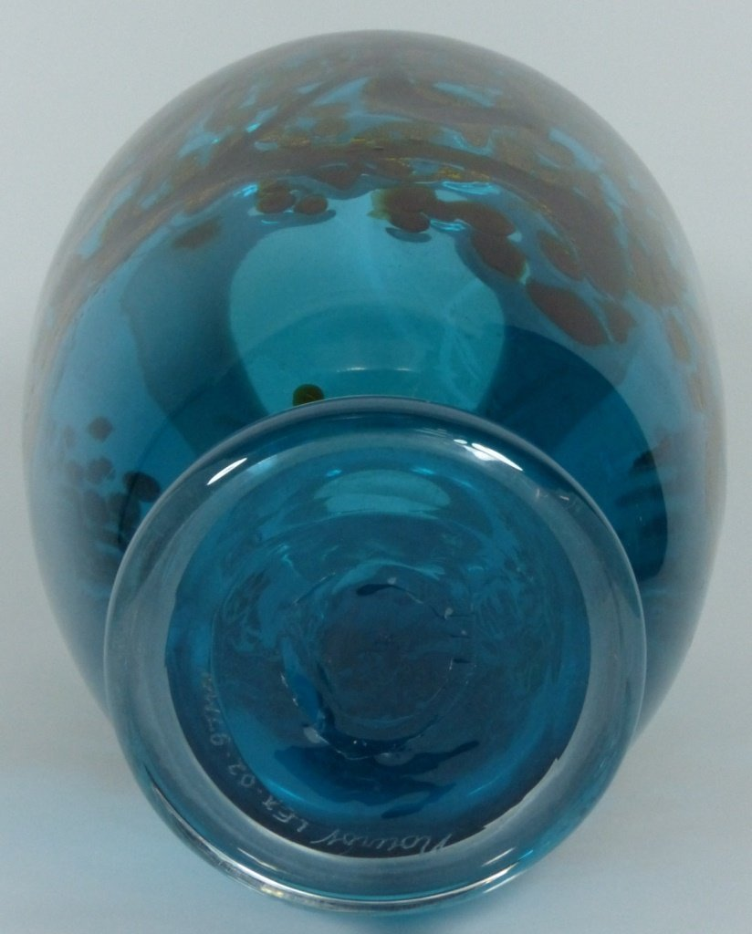 LARGE MICHAEL NOUROT ART GLASS VASE SIGNED - 8