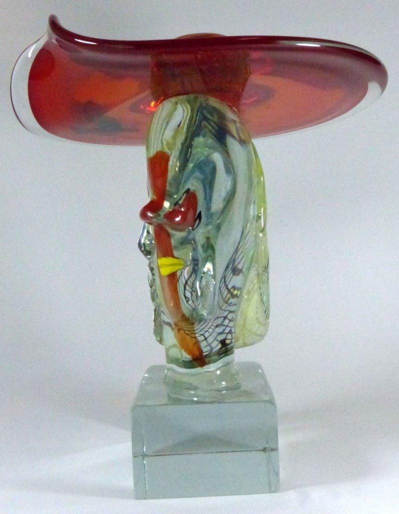 WALTER FURLAN PICASSO MURANO GLASS SCULPTURE - 10