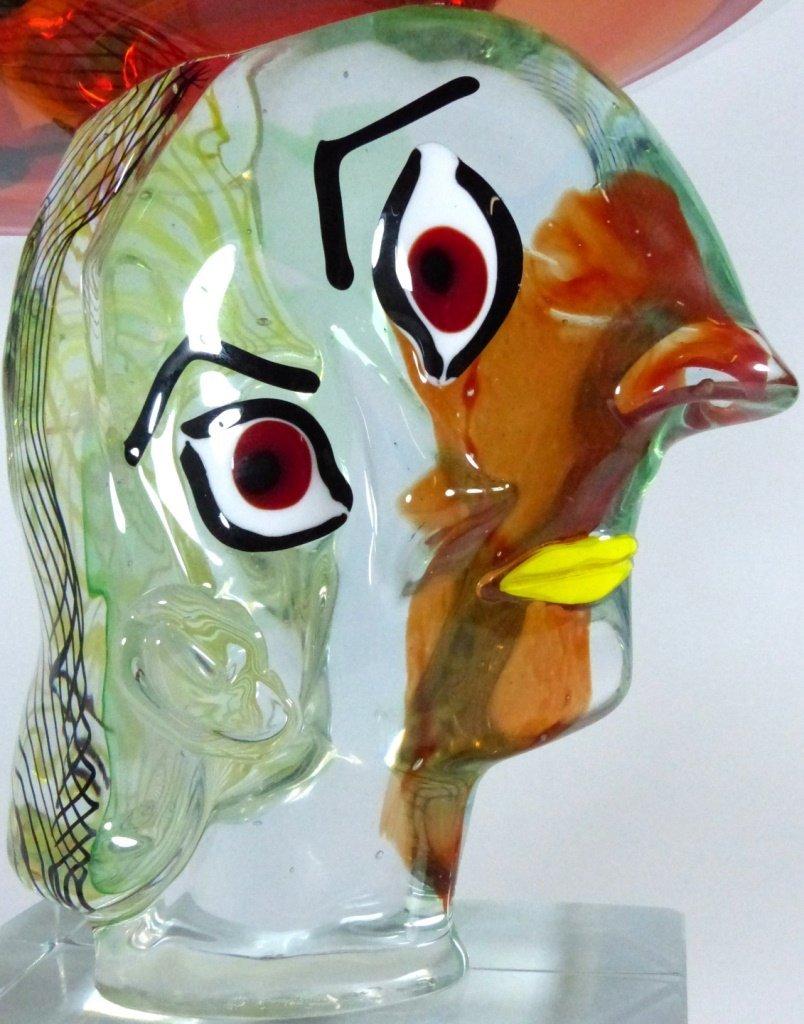 WALTER FURLAN PICASSO MURANO GLASS SCULPTURE - 2